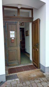 Eingangsbereich zu dem ehemaligen Werkstattraum