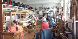 Spinngruppe im ehemaligen Werkstattraum