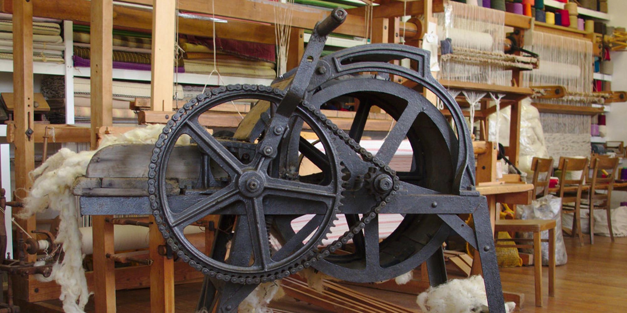 Wollwolf - Gerät zur Bearbeitung von Rohwolle