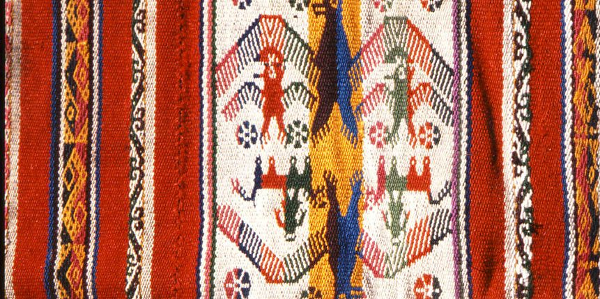 bolivianisches gewebtes Muster