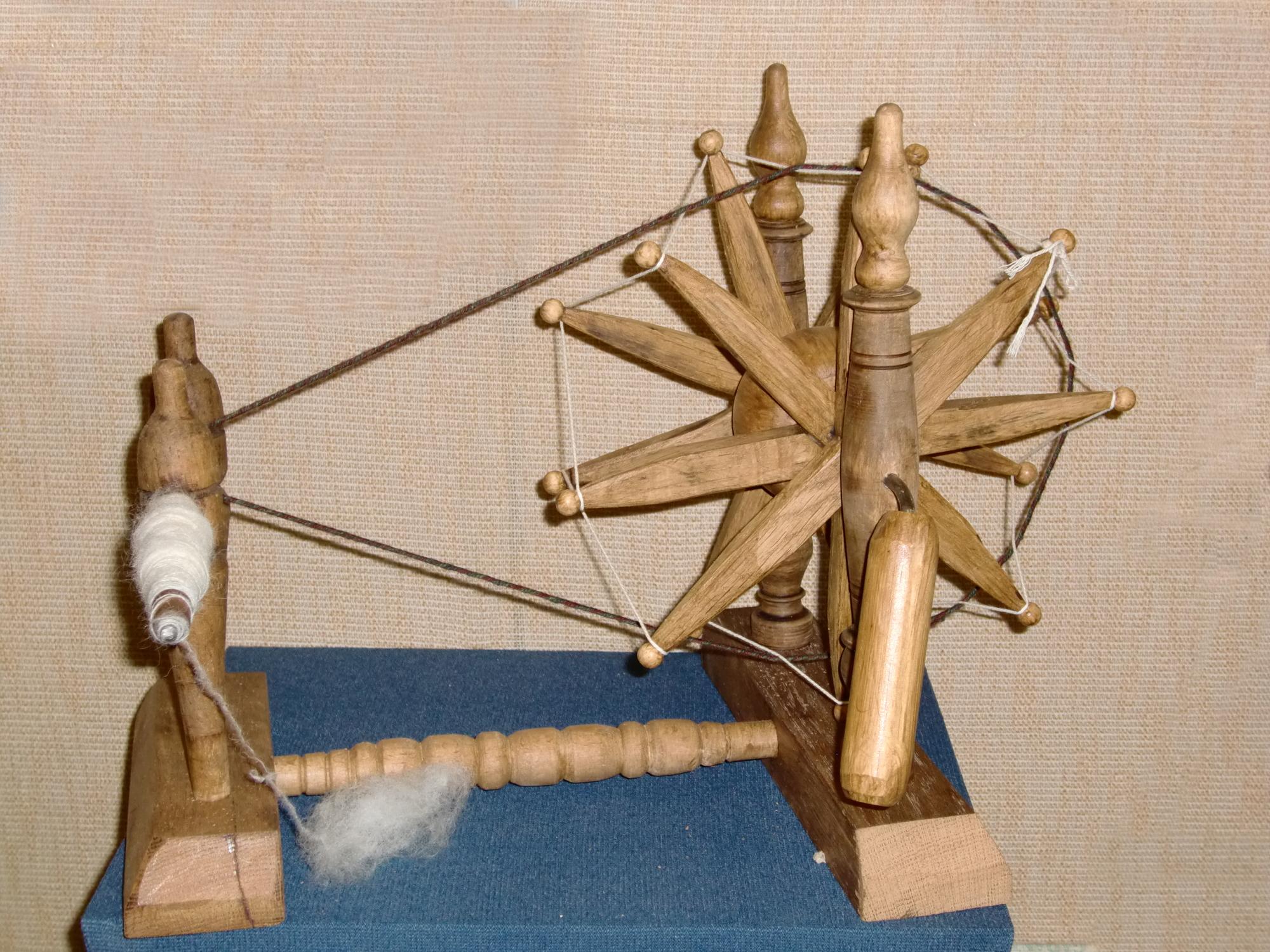 Spindelrad - wird mit der Hand angetrieben