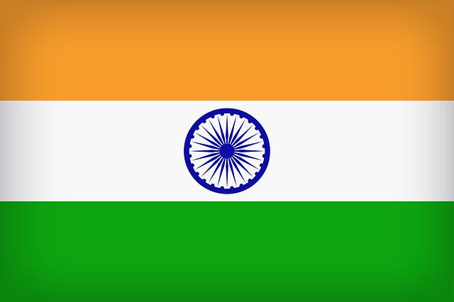 Indische Flagge mit Charkha